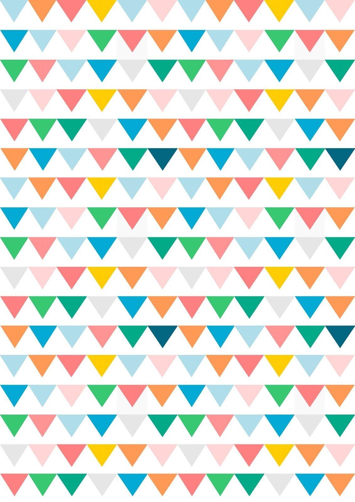 Free Digital Bunting Scrapbooking Paper - Ausdruckbares - Free Printable Paper