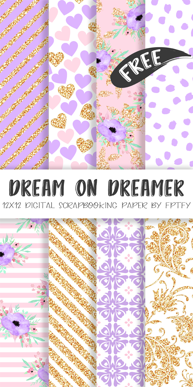 Free Digital Paper-Dream On Dream Lavender Collection | Best Free - Free Online Digital Scrapbooking Printable