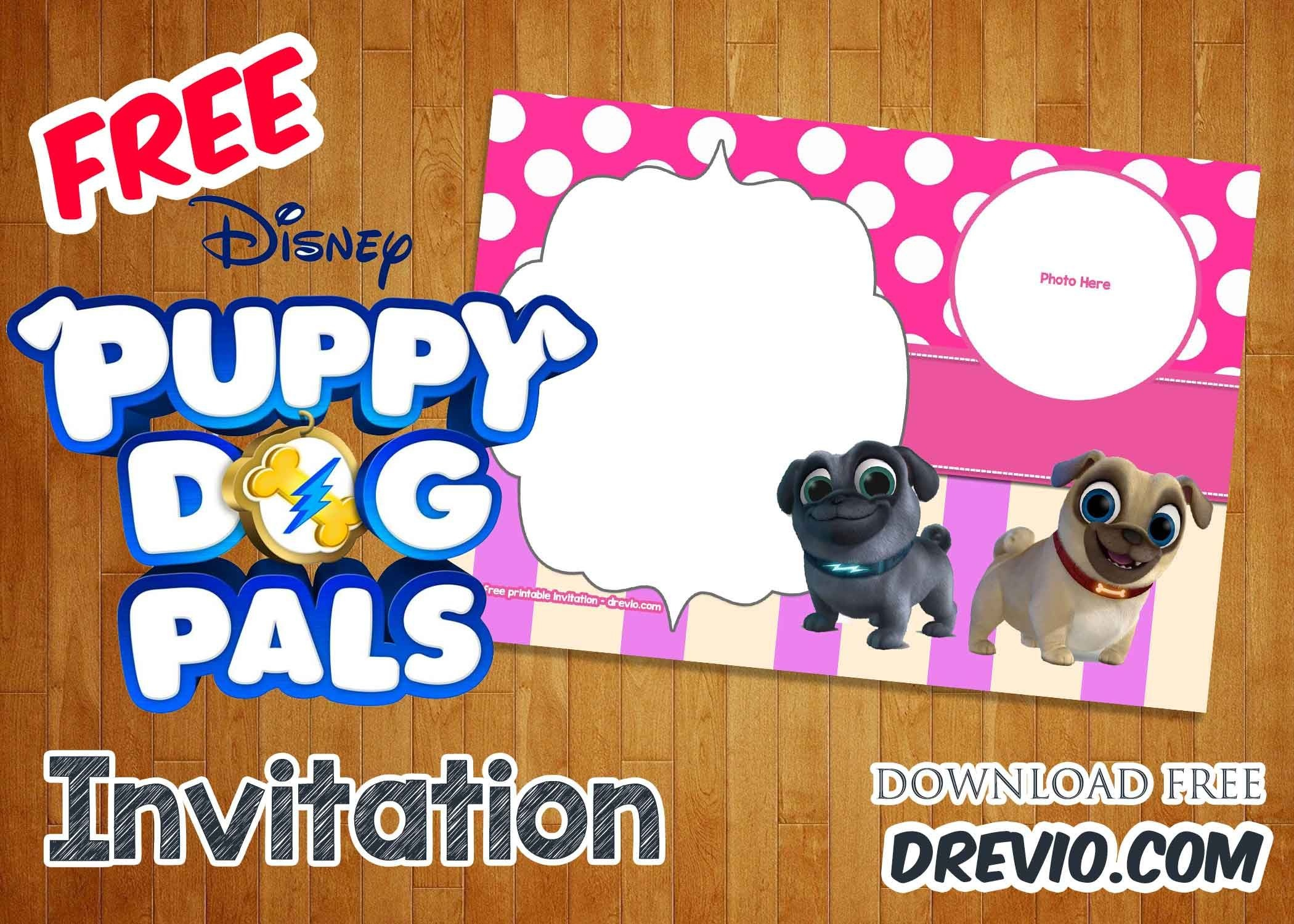 Free Disney Puppy Dog Pals Invitation Templates | Free Printable - Free Printable Puppy Dog Birthday Invitations