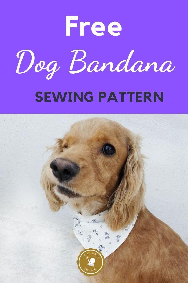 Free Dog Bandana Pattern Diy: For All Sizes! | Dog Pattern | Dog - Free Printable Sewing Patterns For Dog Clothes