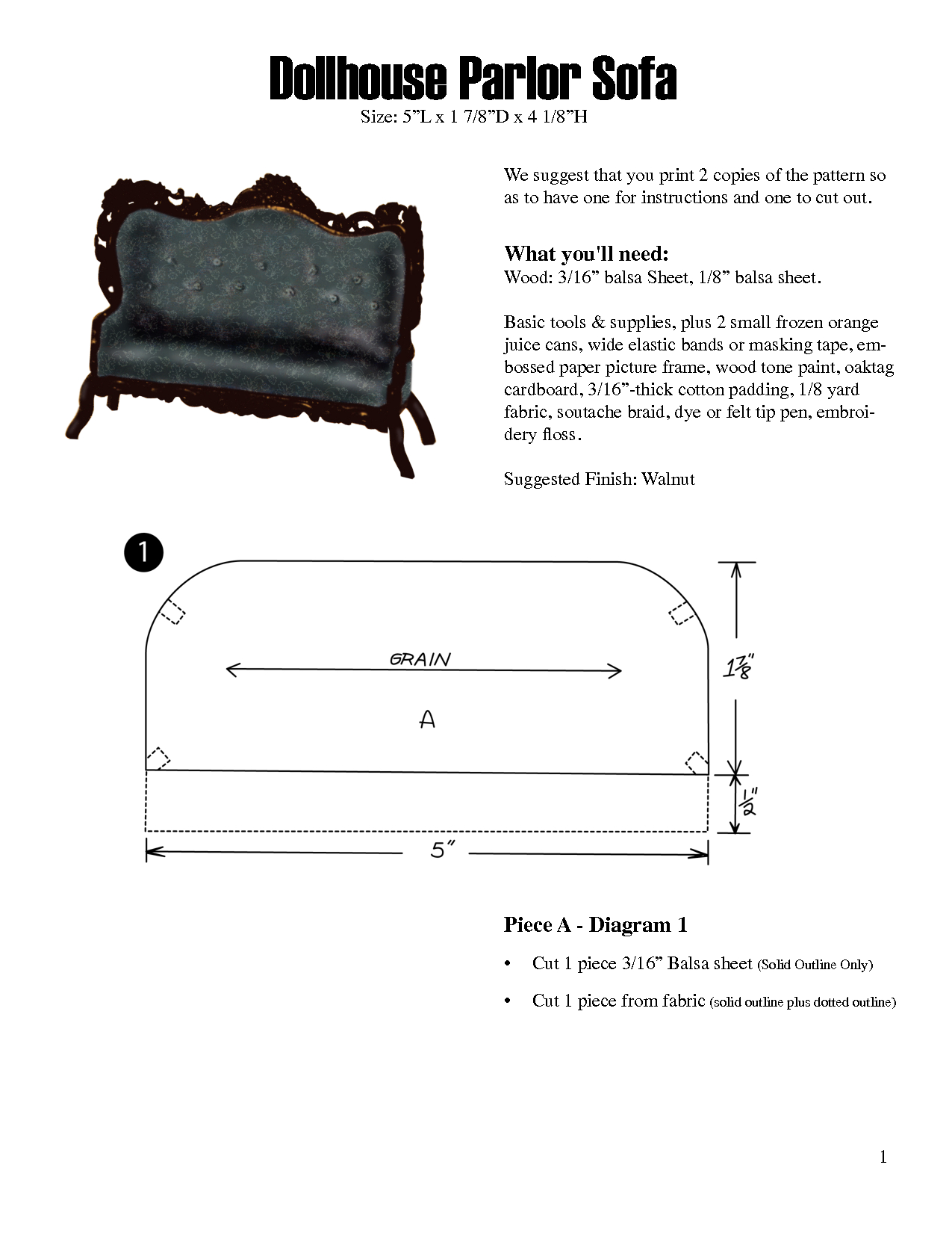 Free Dollhouse Furniture Patterns | Scope Of Work Template - Free Printable Dollhouse Furniture Patterns