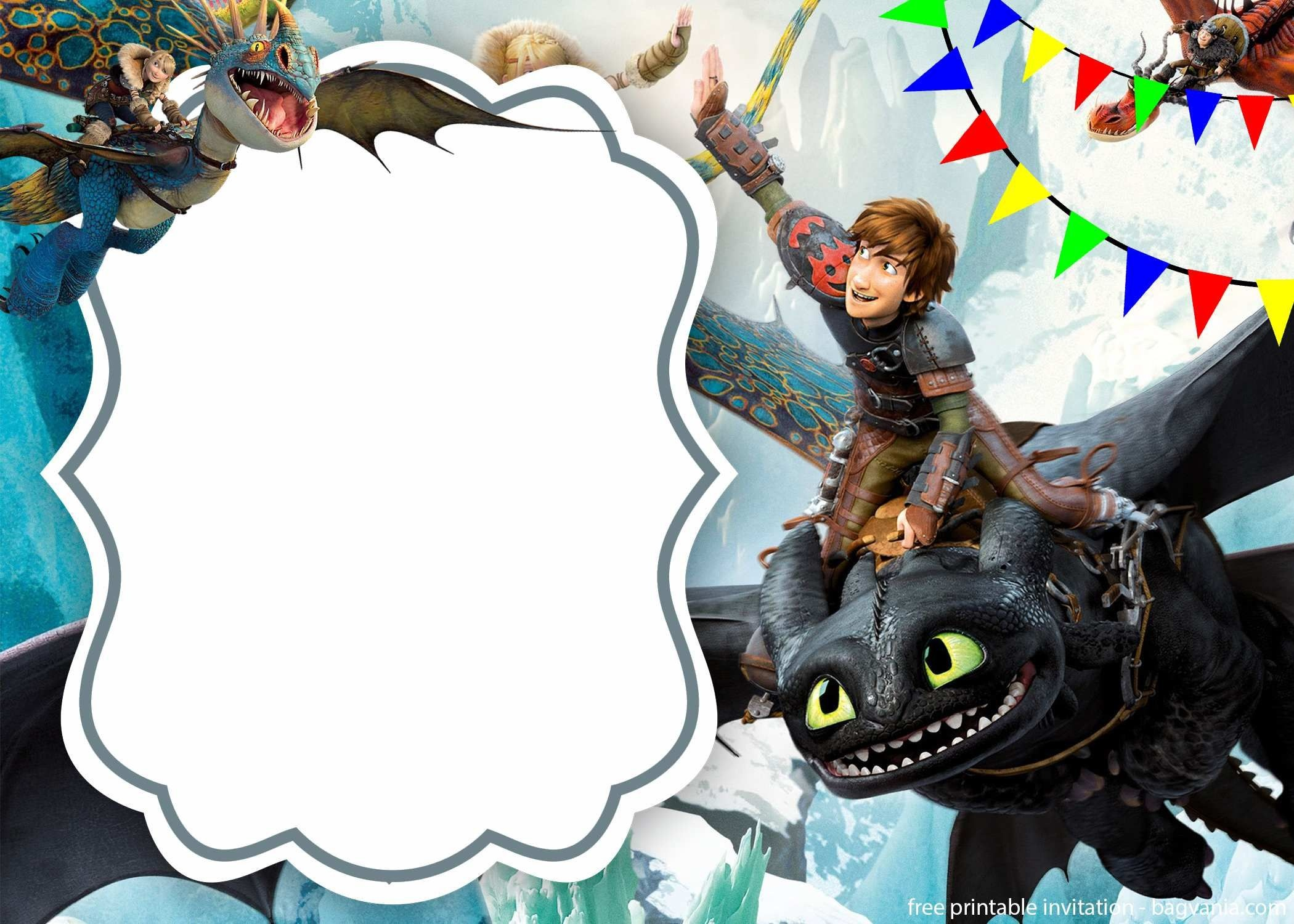 Free Download How To Train Your Dragon Invitation   Bagvania - How To Train Your Dragon Birthday Invitations Printable Free