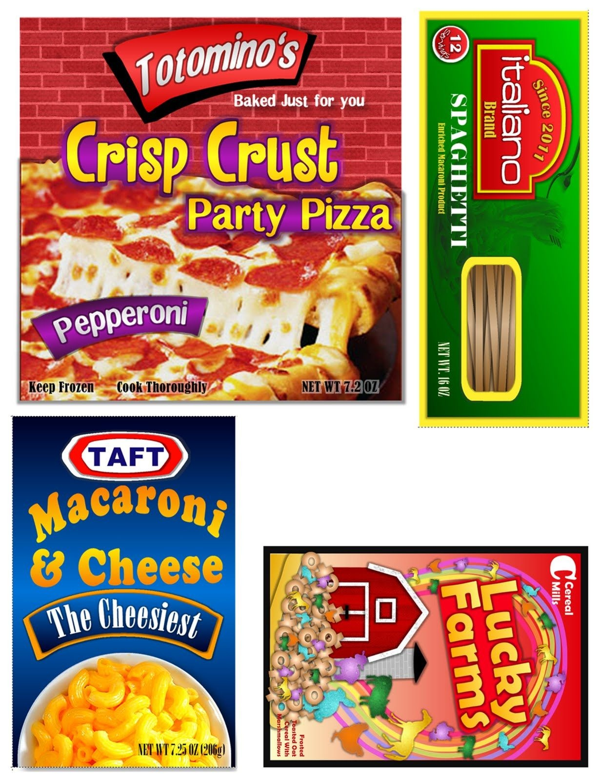 Free Download Of Kiddie Food Play Labels - The Sew*er, The Caker - Free Printable Play Food Labels