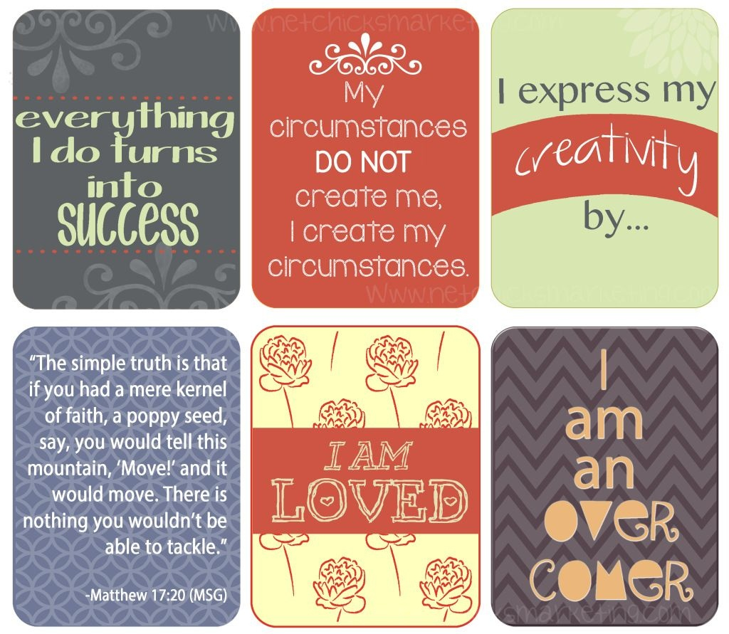 Free Download: Positive #affirmations Printable - Include Them With - Free Printable Positive Affirmation Cards