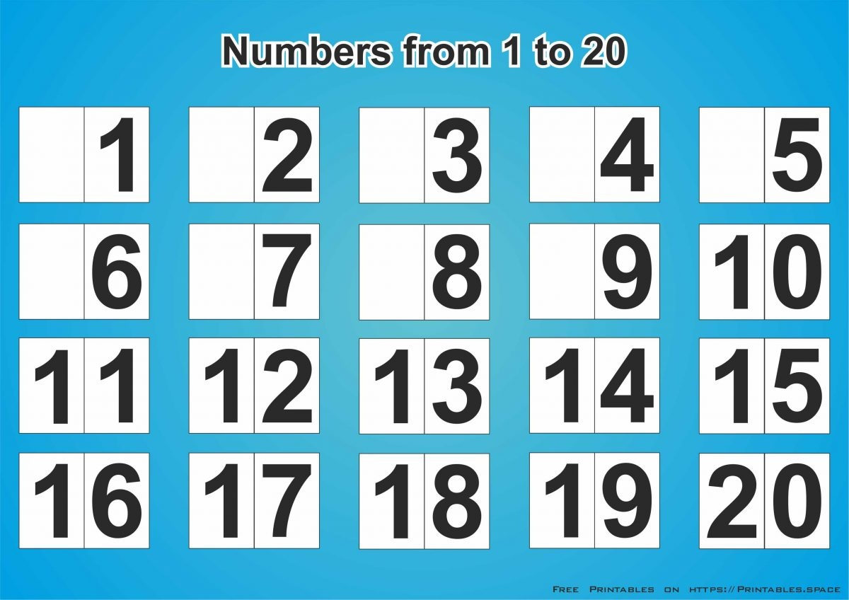Free Download Printable Numbers 1-20 - Free Printables - Free Printable Numbers 1 20
