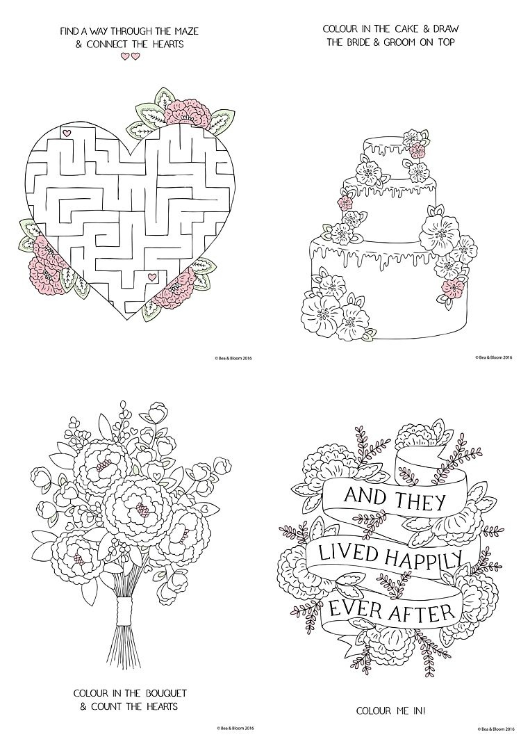Free Download Printable Wedding Colouring Sheets For Kids | Going To - Free Printable Personalized Children's Books