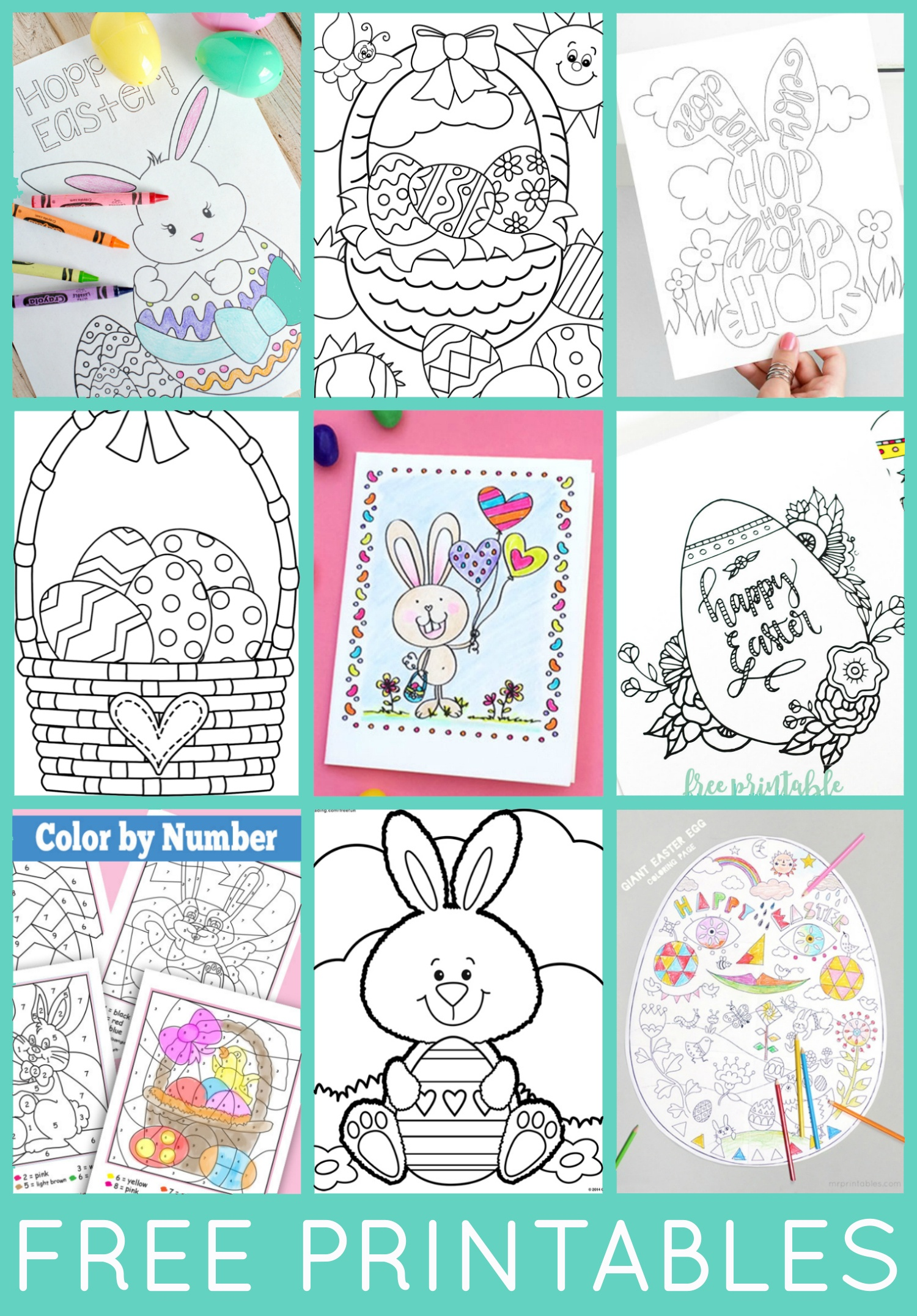 Free Easter Coloring Pages - Happiness Is Homemade - Free Printable Easter Coloring Pages For Toddlers