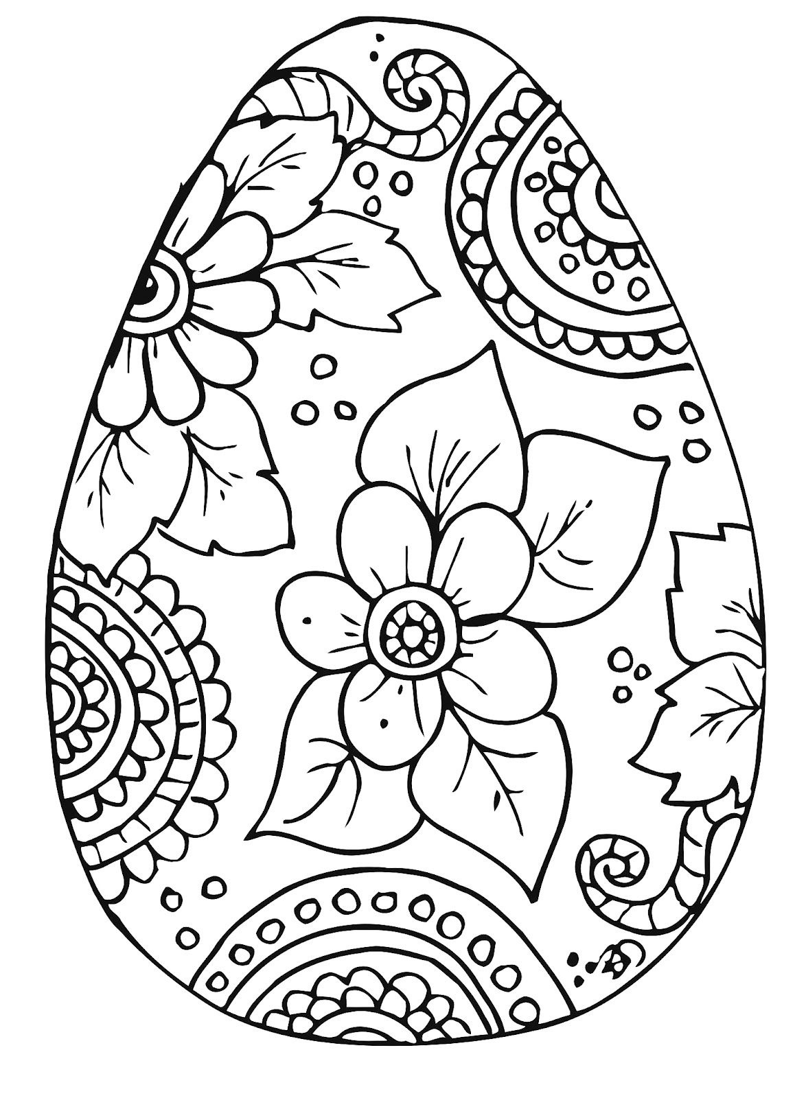 Free Easter Egg Coloring Pages | Easter | Pinterest | Easter - Free Easter Color Pages Printable