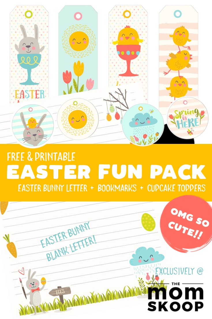 Free Easter Printable: Easter Bunny Letter (And More!) - Momskoop - Free Printable Easter Images