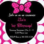 Free Editable Minnie Mouse Birthday Invitations   Minnie Mouse Sba   Free Printable Minnie Mouse Party Invitations