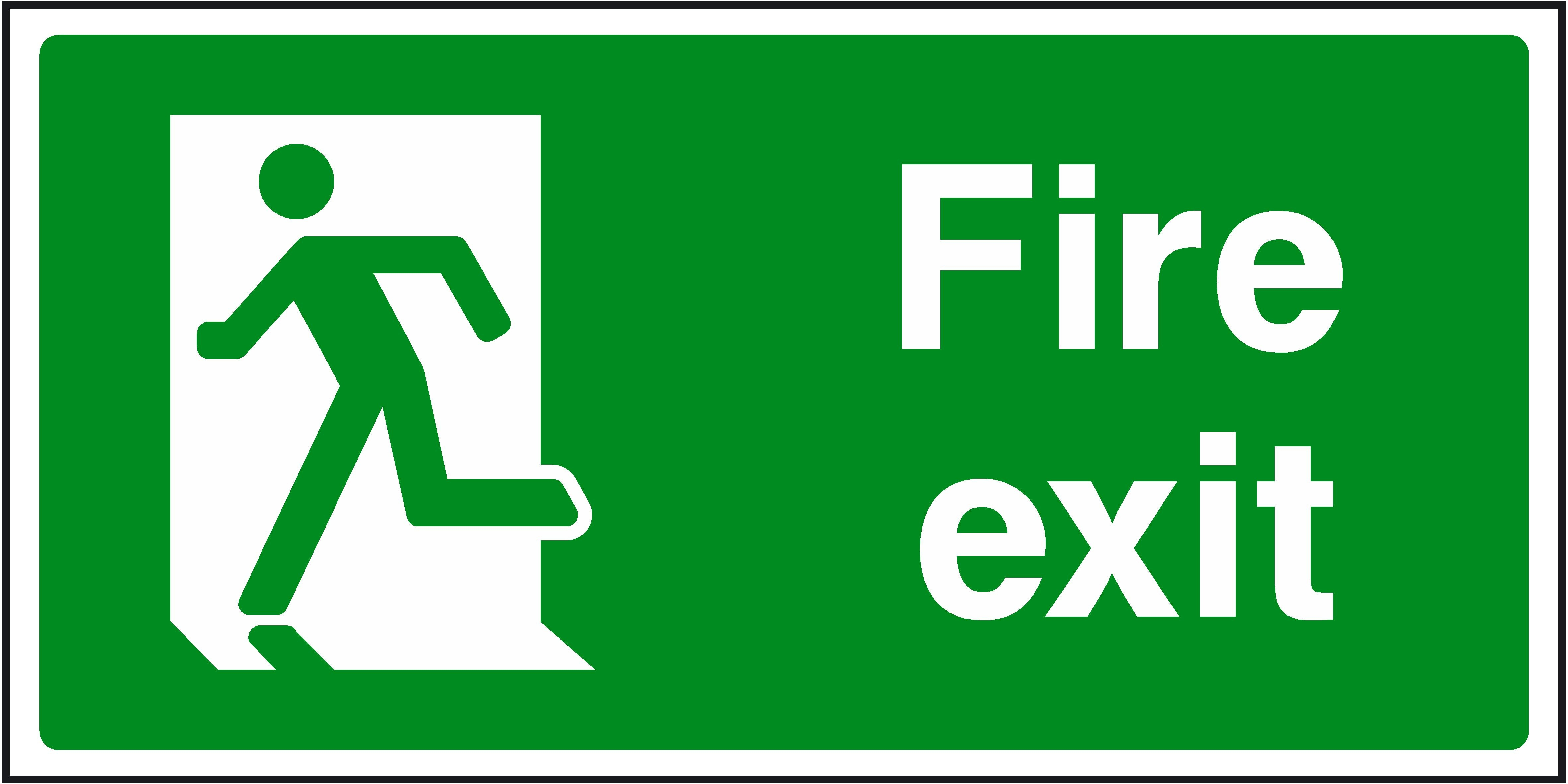 Free Emergency Exit Signs, Download Free Clip Art, Free Clip Art On - Free Printable Emergency Exit Only Signs
