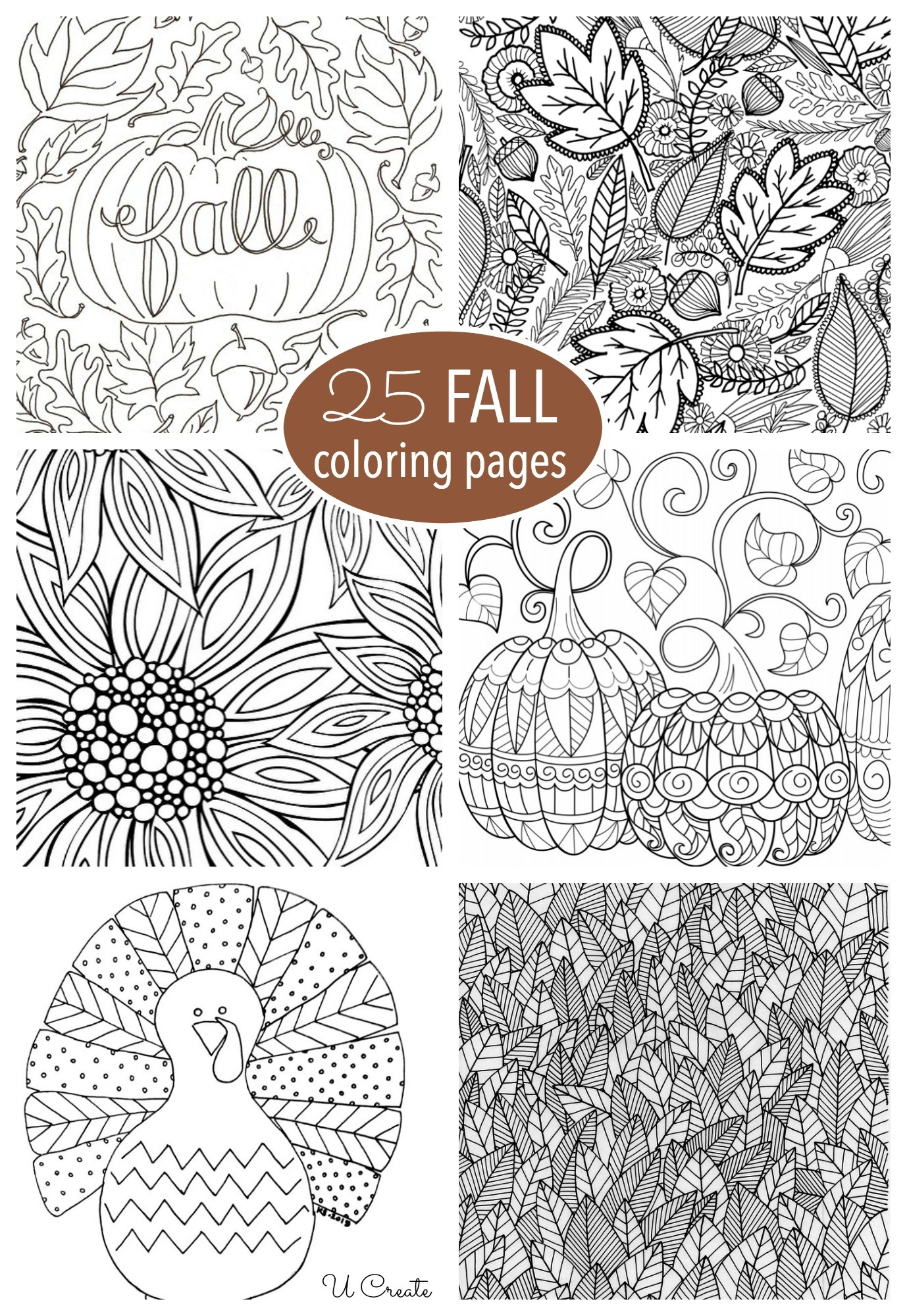 Free Fall Adult Coloring Pages - U Create - Free Printable Fall Coloring Pages
