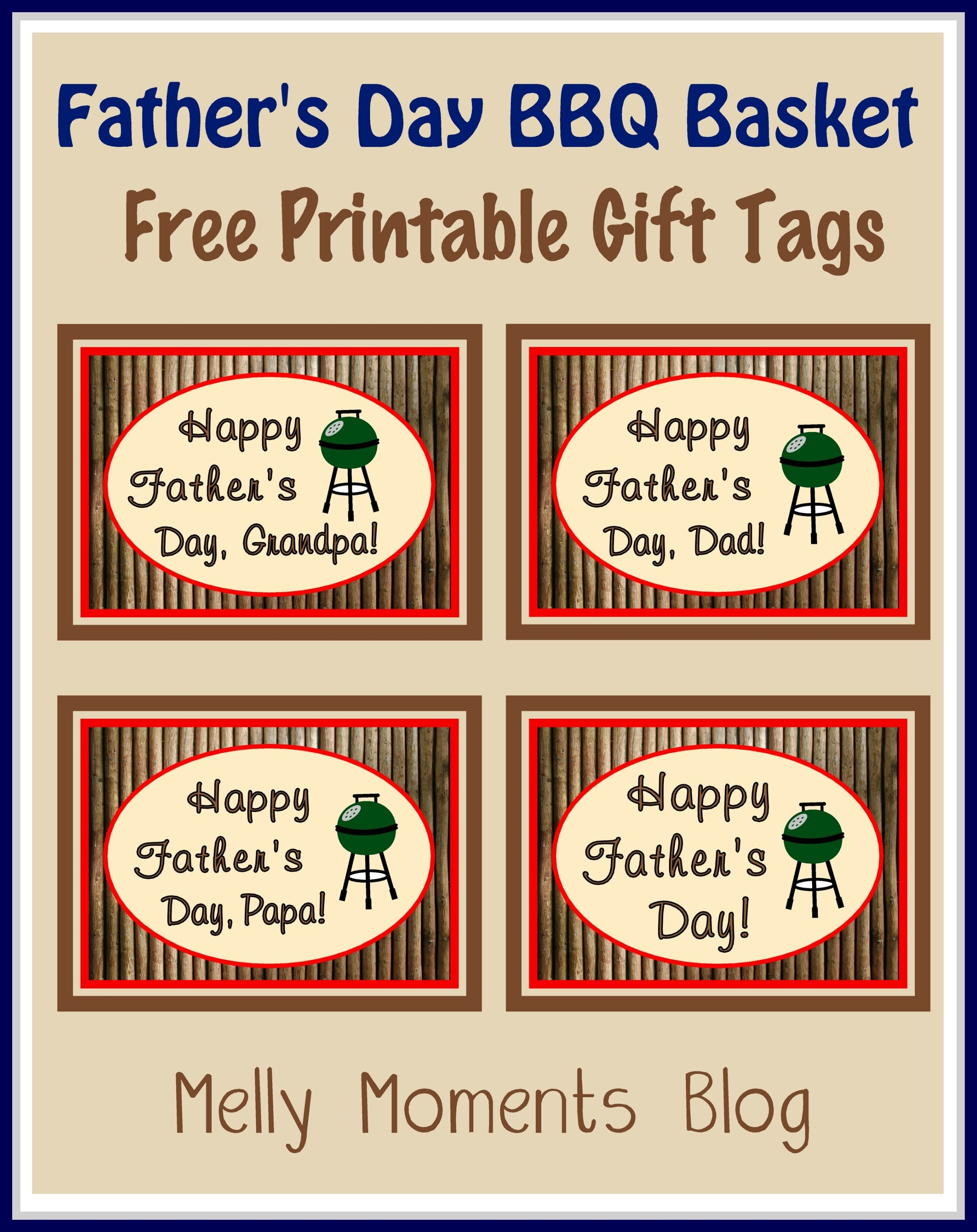 Free Father's Day Gift Tags And Labels. Perfect To Use With A Bbq Or - Free Printable Father's Day Labels