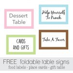 Free Favor Tags For Parties | Cutestbabyshowers – Free Printable Baby Shower Table Signs