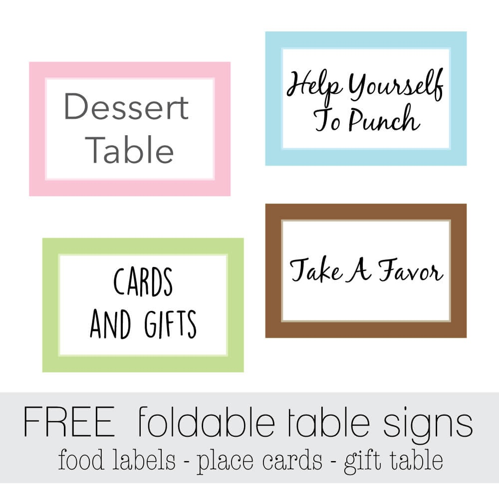 Free Favor Tags For Parties | Cutestbabyshowers - Free Printable Baby Shower Table Signs