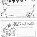 Free Fill In The Blank Thank You Cards For Kids | Skip To My Lou   Free Printable Thank You Cards Black And White