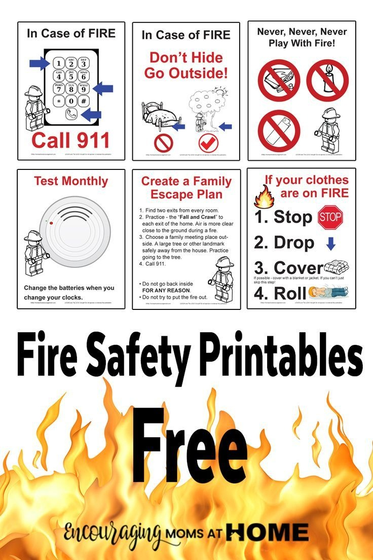 Free Fire Safety Posters With A Lego® Theme | Drp-Firefighters - Free Printable Preschool Posters