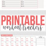 Free: Fitness Tracker Printables   Hairspray And Highheels   Free Printable Fitness Tracker