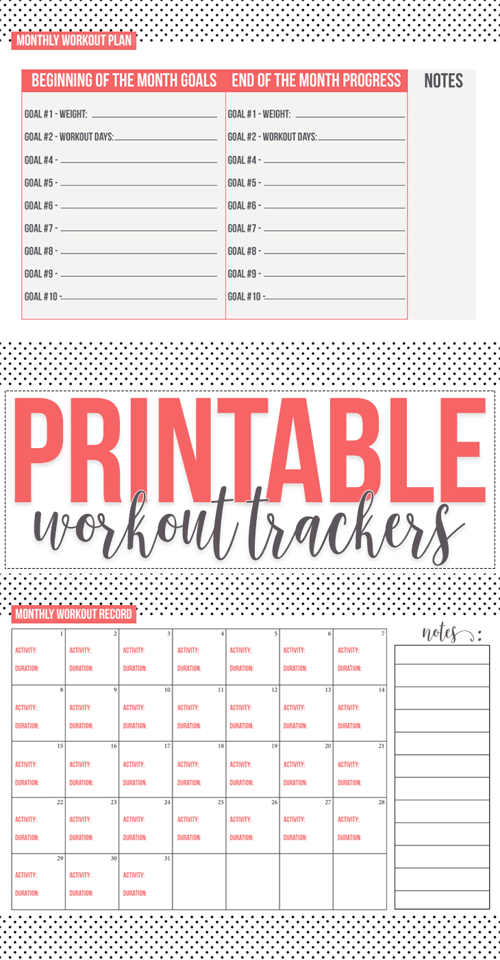Free: Fitness Tracker Printables - Hairspray And Highheels - Free Printable Fitness Tracker