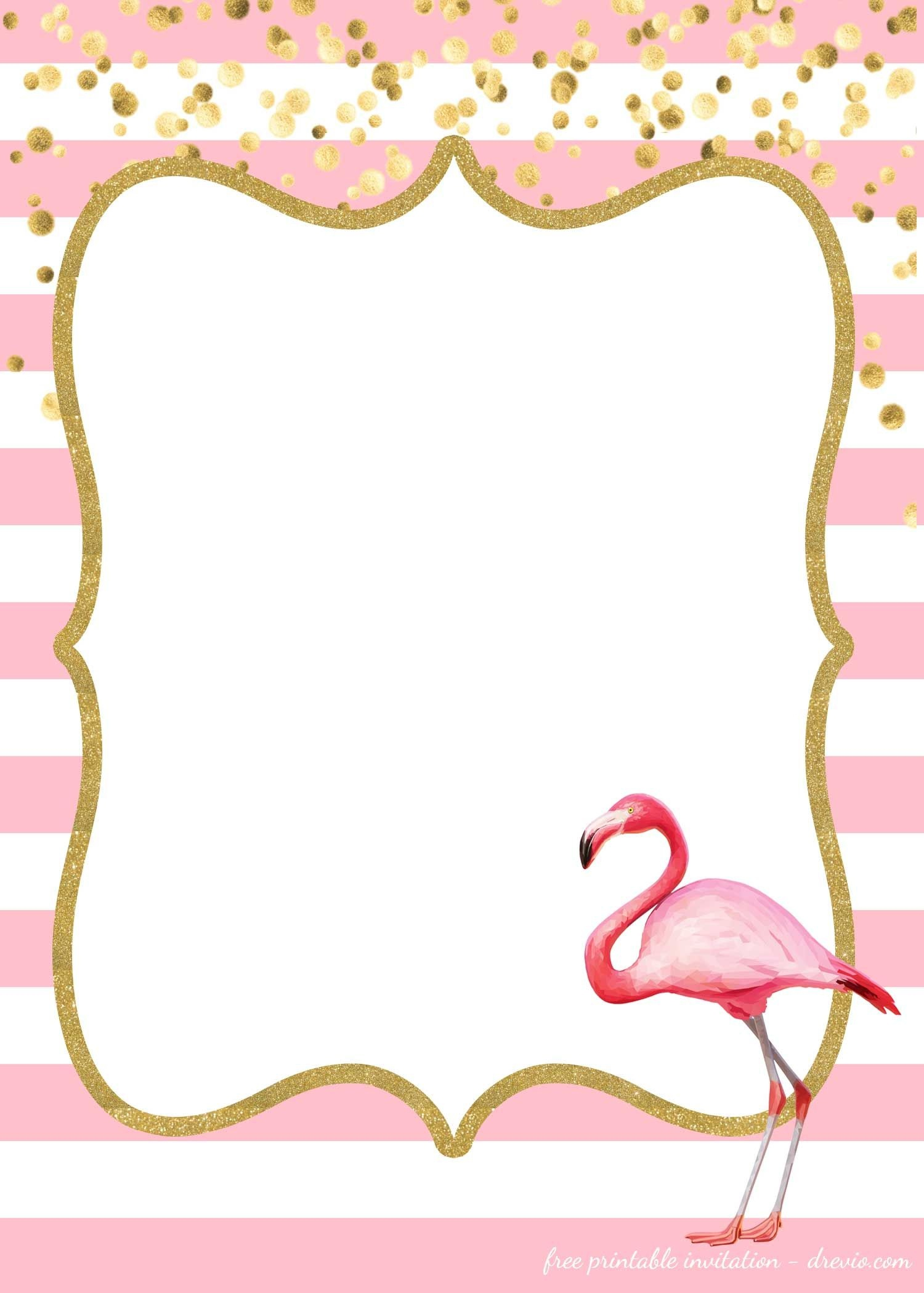 Free Flamingo Invitations Templates - Downloadable | Birthday - Free Printable Pineapple Invitations