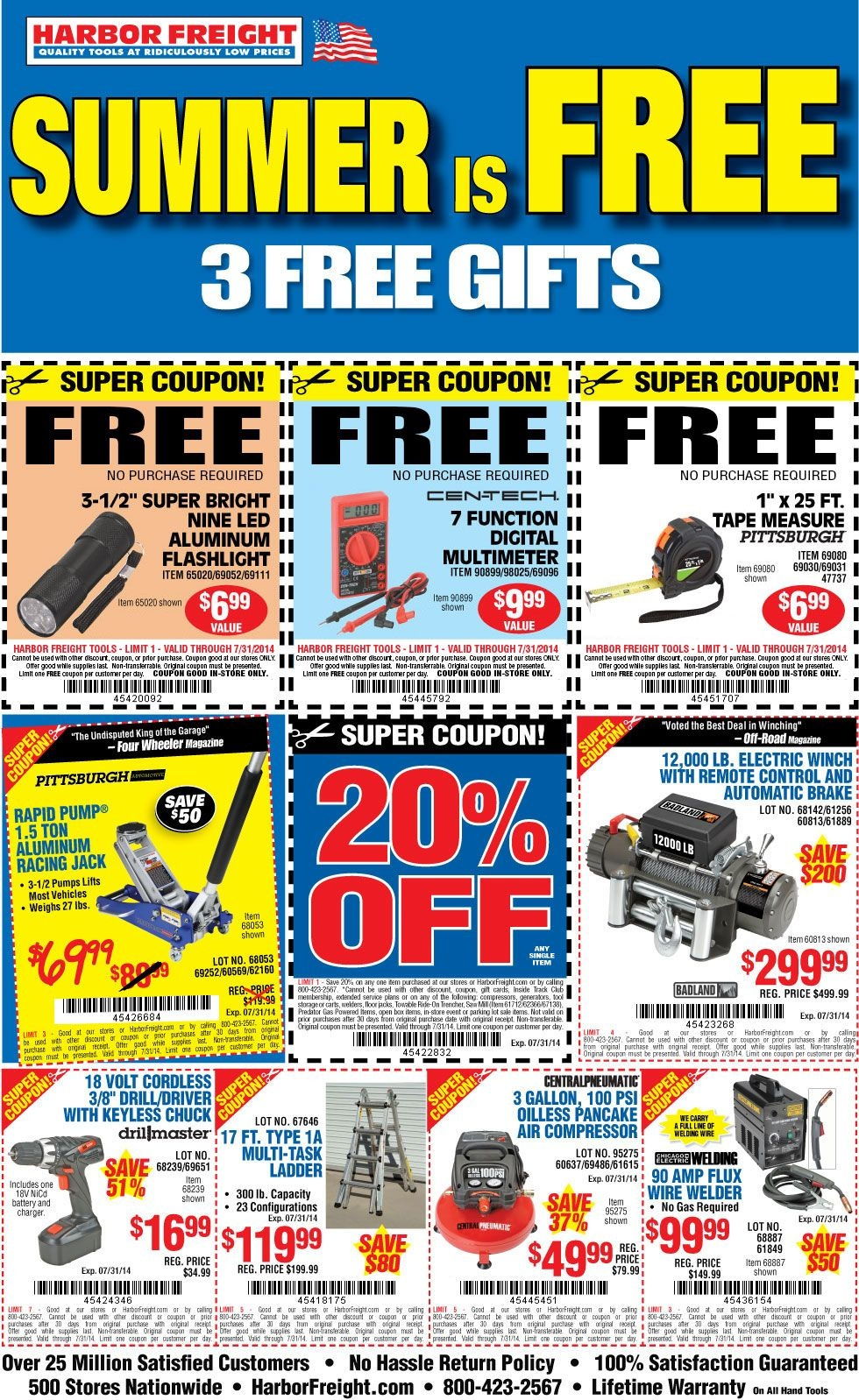 Free Flashlight, Multimeter And Tape Measure At Harbor Freight - Free Sample Coupons Printable