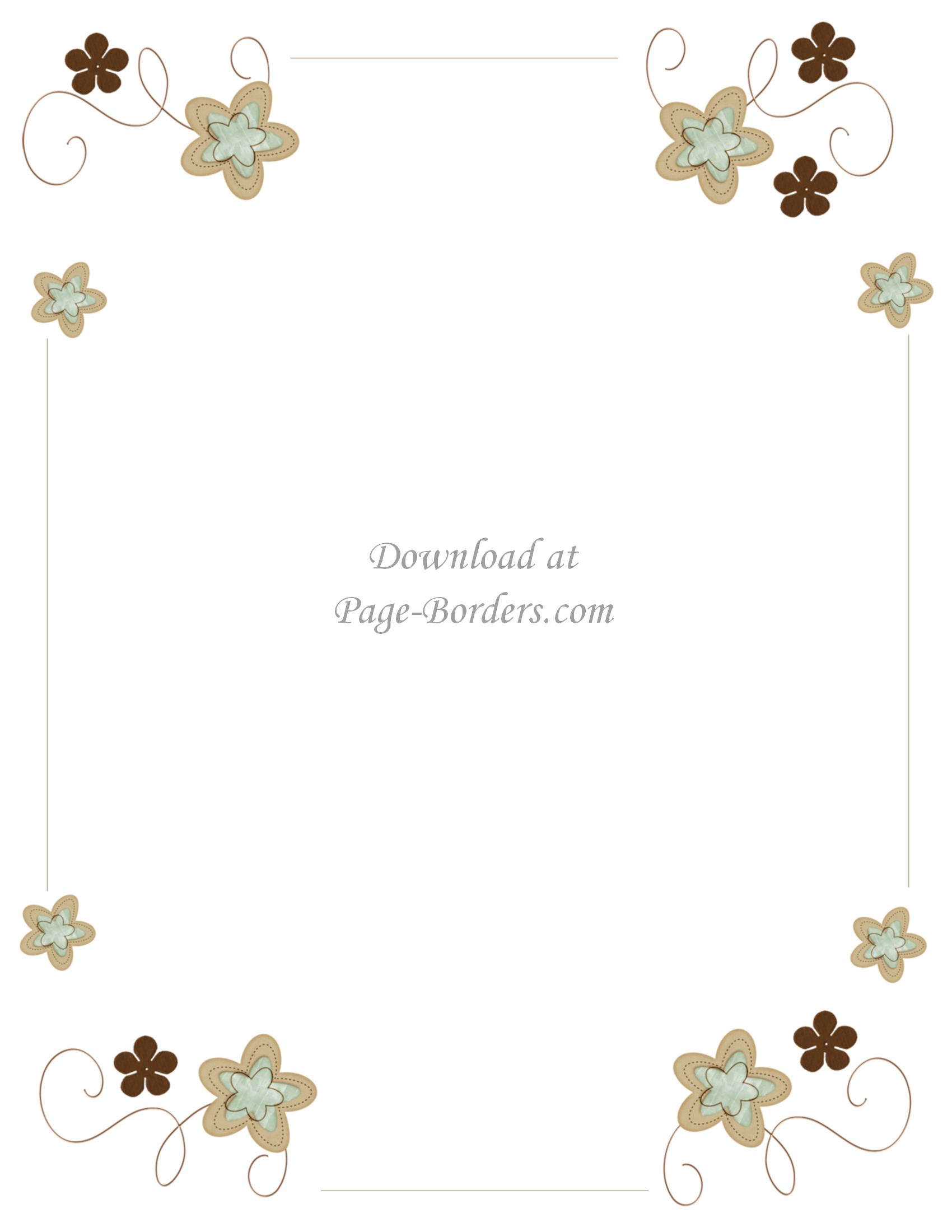 Free Flower Border Template | Personal & Commercial Use - Free Printable Page Borders