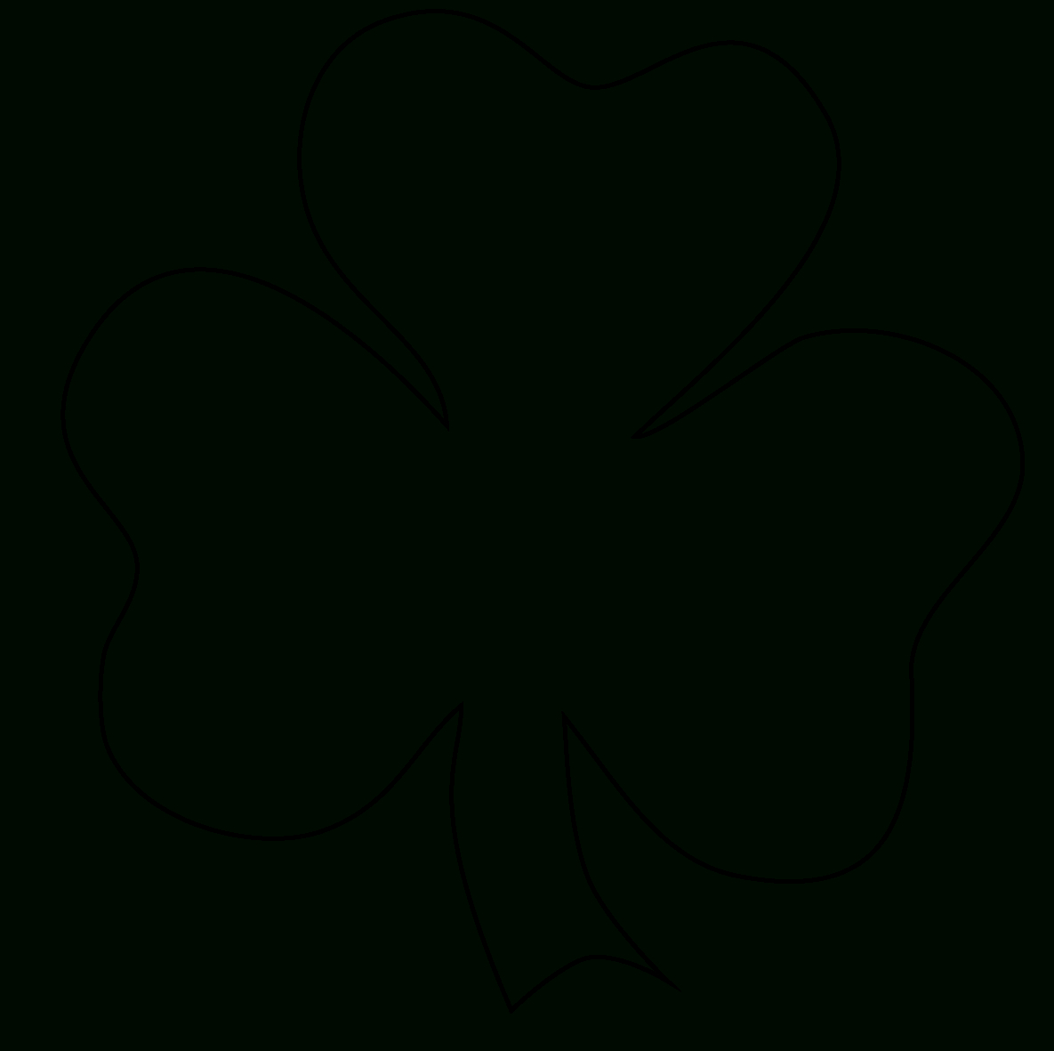 Free Four Leaf Clover Outline, Download Free Clip Art, Free Clip Art - Shamrock Template Free Printable