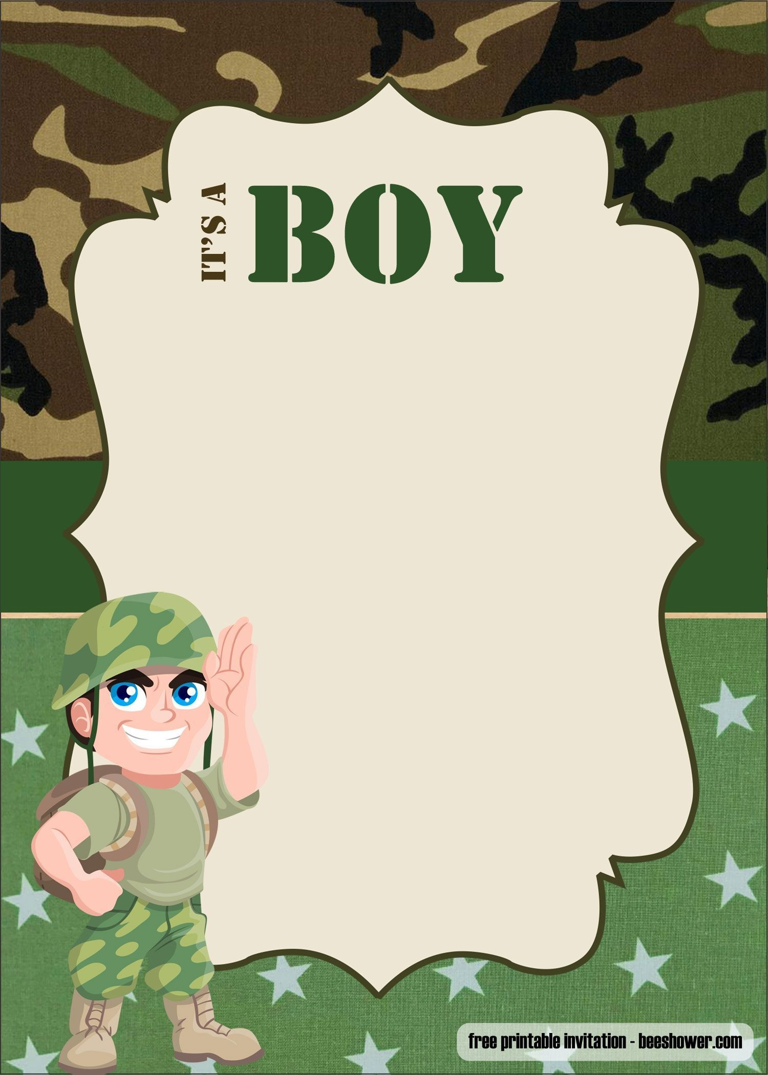 Free Free Camouflage Baby Shower Invitations Templates   Beeshower - Free Printable Camouflage Invitations
