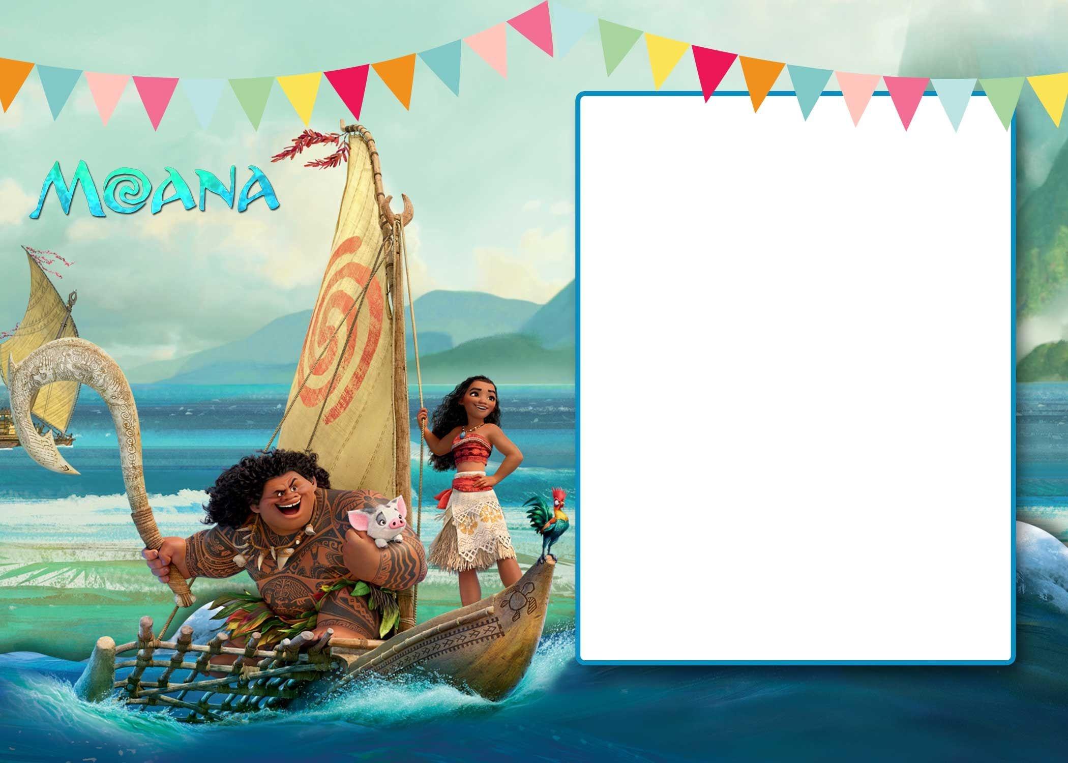 Free Free Printable Moana 1St Invitation Template | Bagvania - Free Printable Moana Birthday Cards