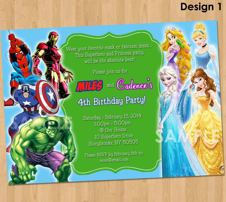 Free Free Printable Superhero Birthday Invitations | Bagvania - Free Printable Superhero Birthday Invitation Templates