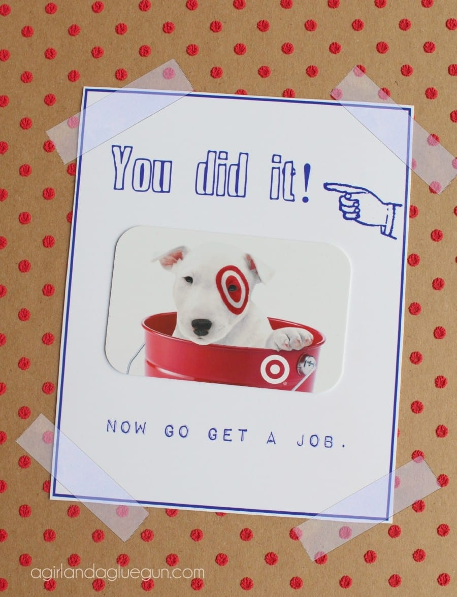 Free Graduation Card Printable! - A Girl And A Glue Gun - Graduation Cards Free Printable Funny