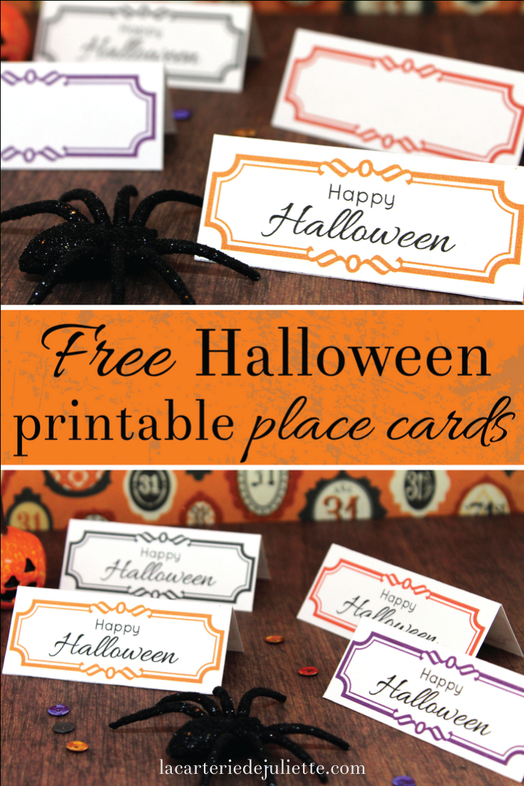 Free Halloween Printable Place Cards! - La Carterie De Juliette - Free Printable Halloween Place Cards
