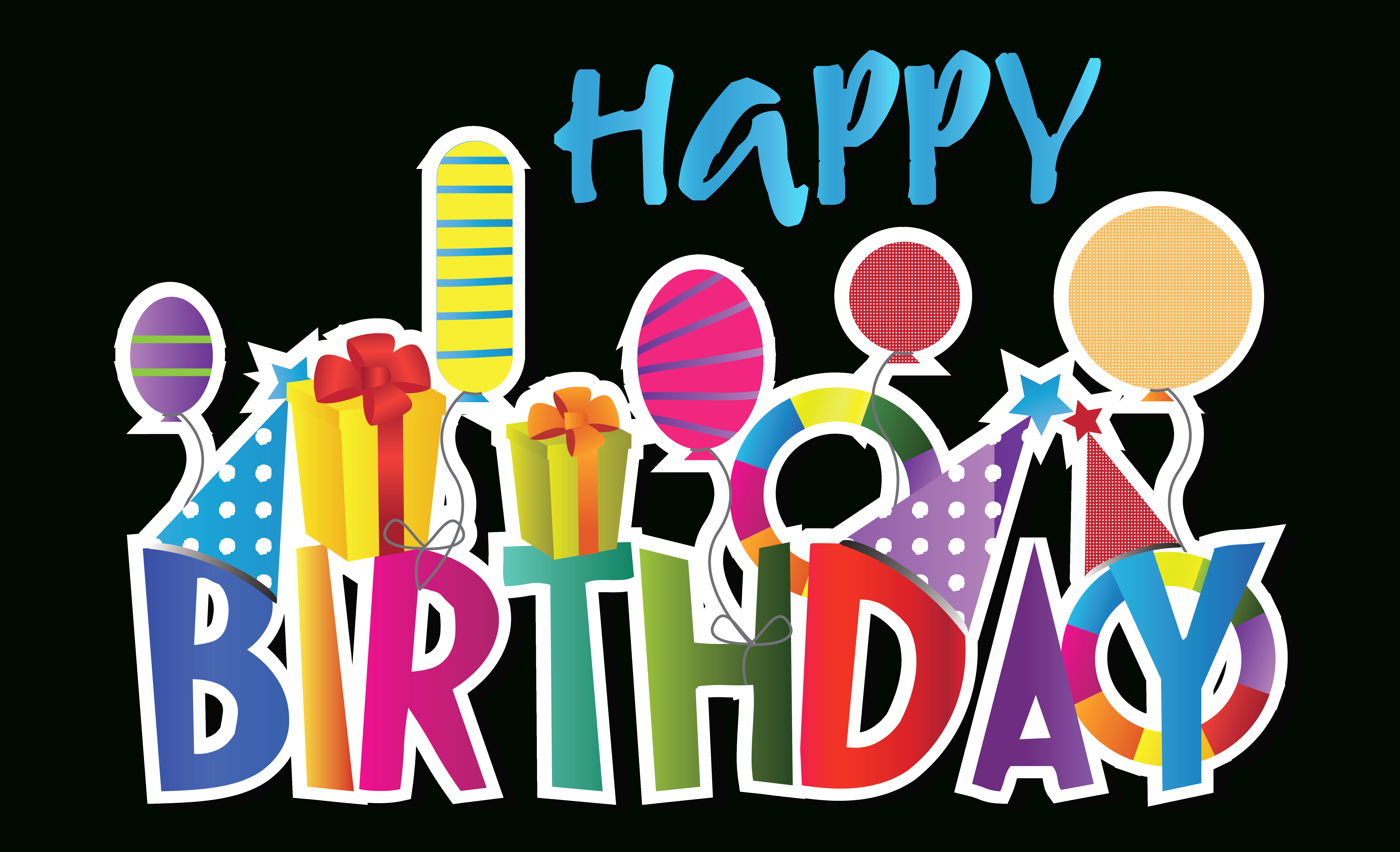 Free Happy Birthday Cliparts, Download Free Clip Art, Free Clip Art - Birthday Clipart Free Printable