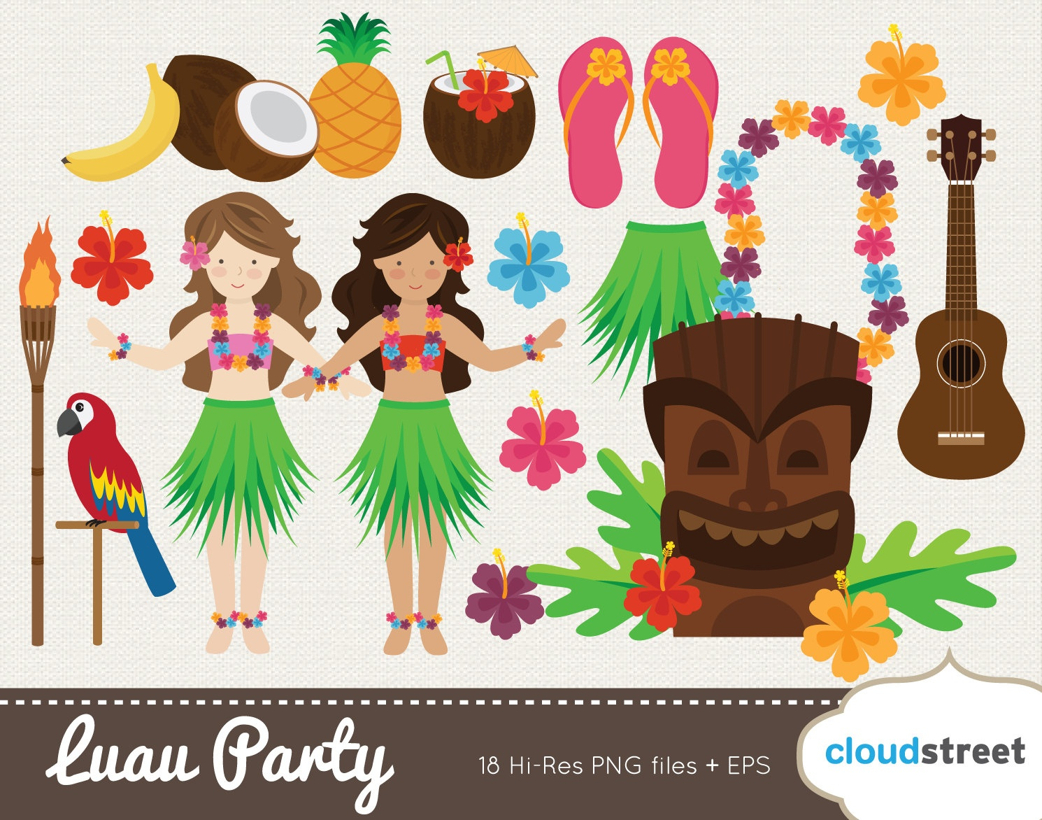 Free Hawaii Cliparts, Download Free Clip Art, Free Clip Art On - Free Printable Luau Clipart