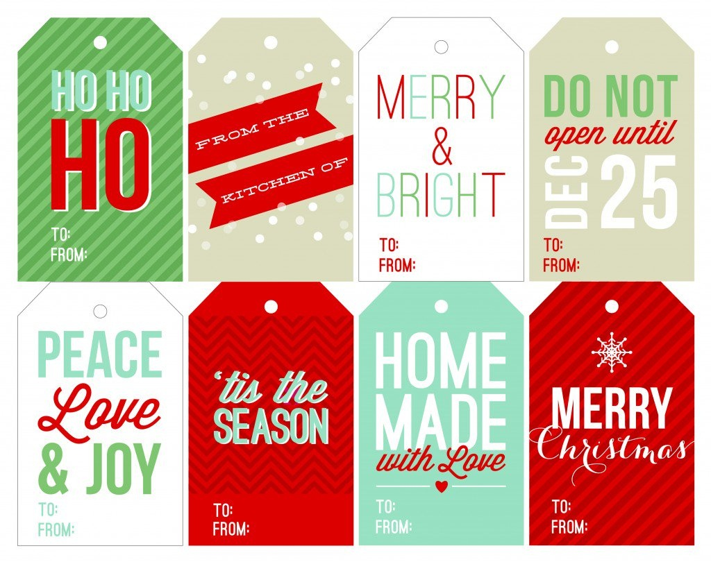 Free Holiday Printable Gift Tags - Free Printable Holiday Gift Labels