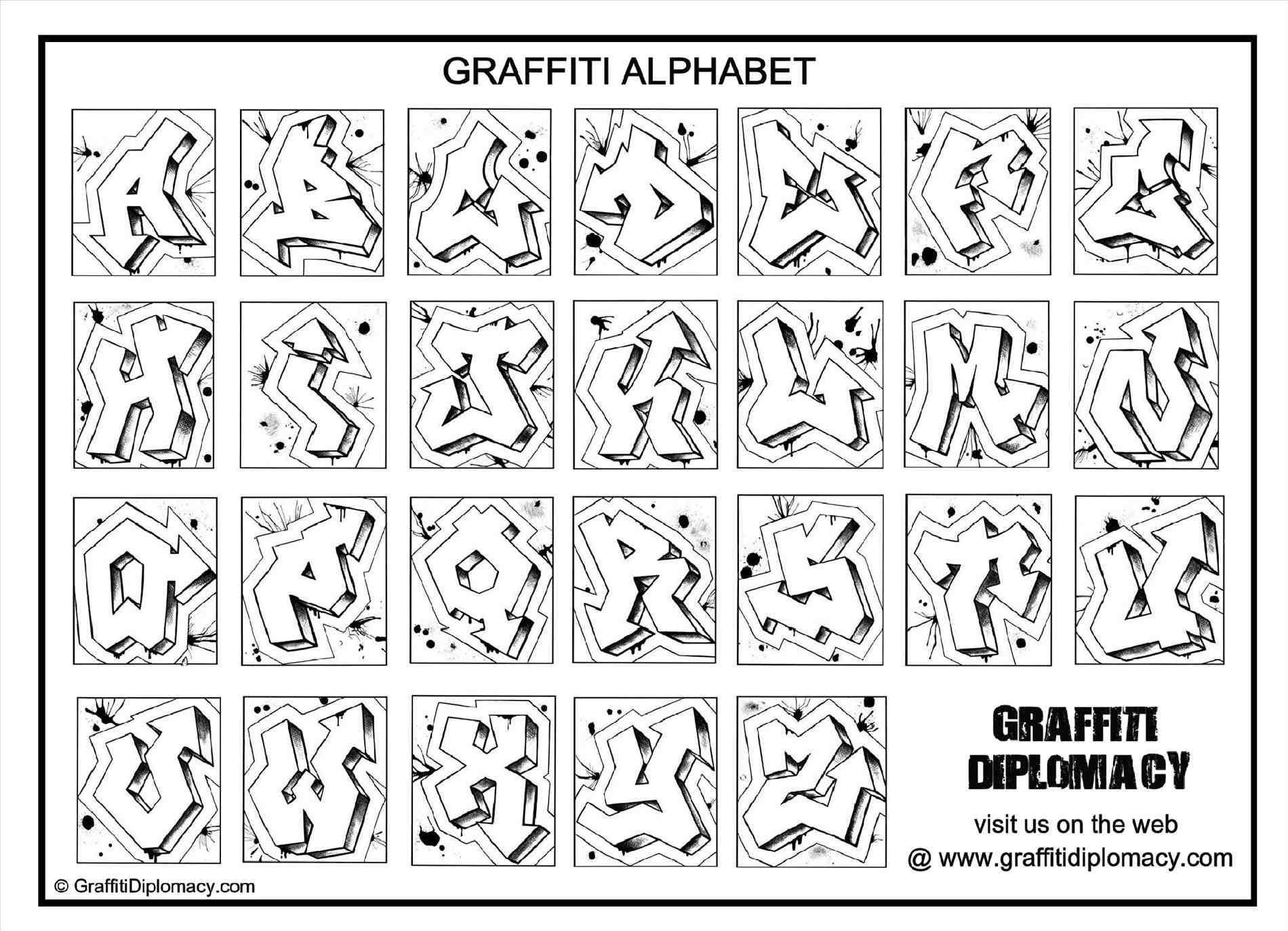 Free How To Draw Graffiti Letters A-Z Stepstep Printable Abc - Free Printable Graffiti Letters Az