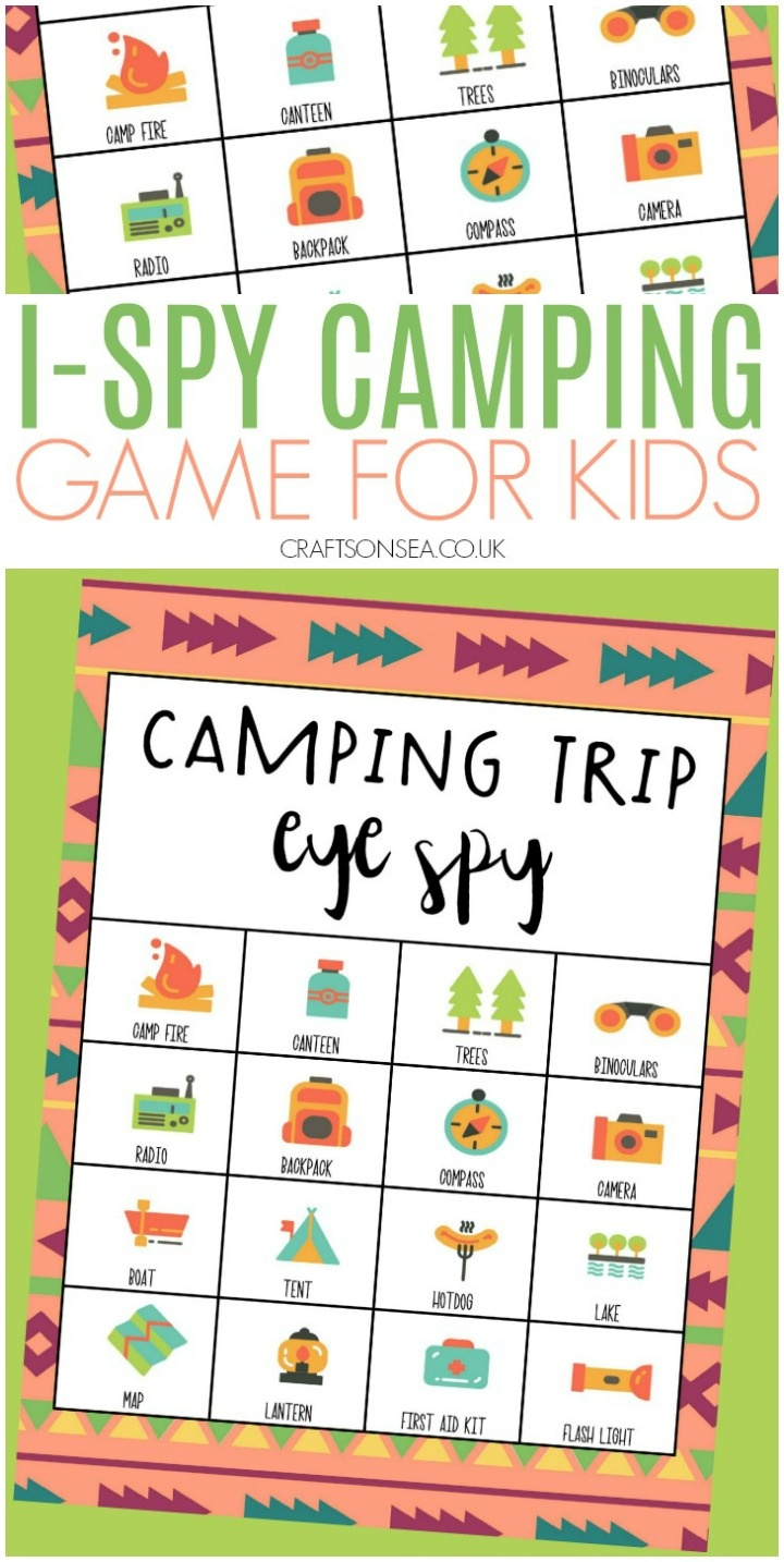 Free I-Spy Camping Game For Kids - Crafts On Sea - Free Printable Camping Games