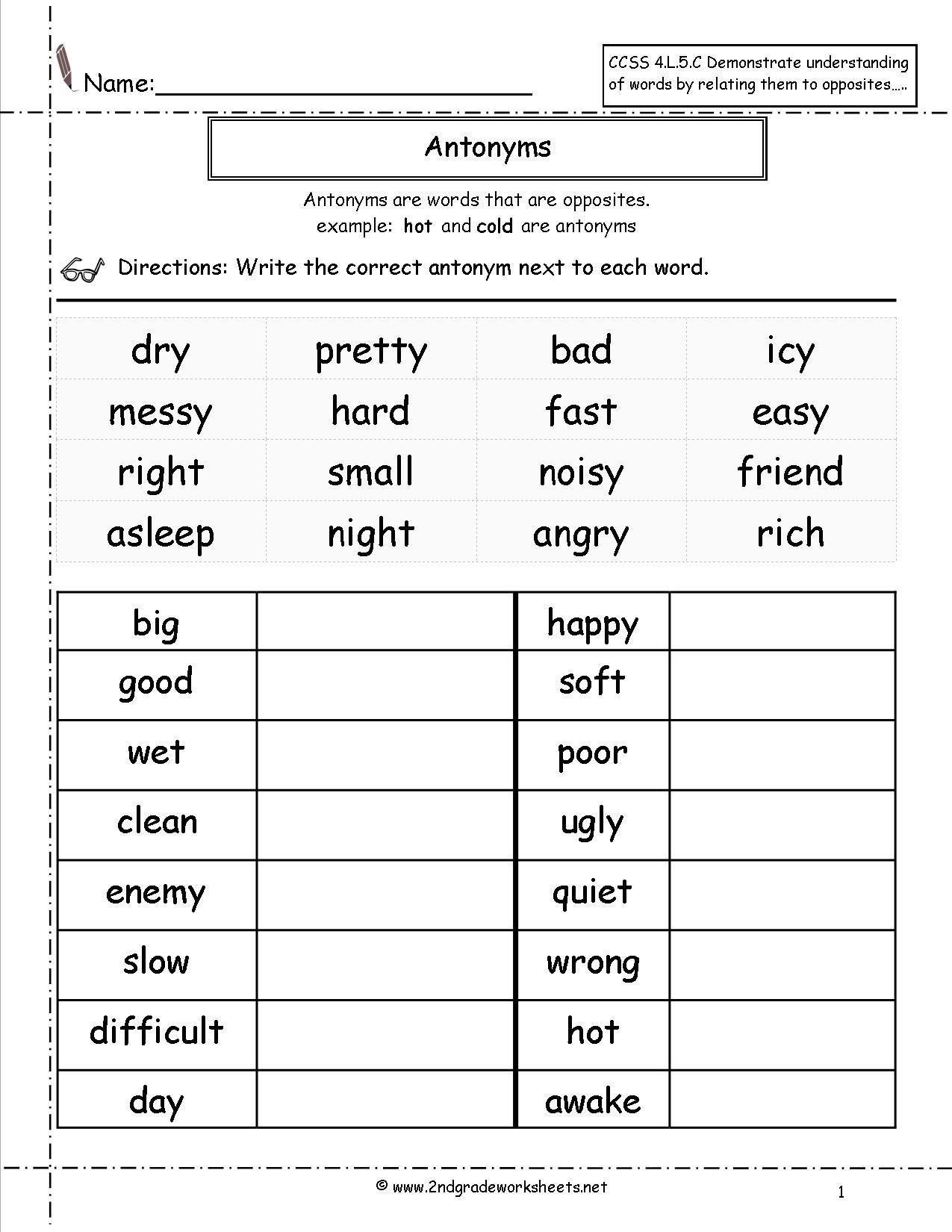 Free Language/grammar Worksheets And Printouts - Free Printable Grammar Worksheets For 2Nd Grade