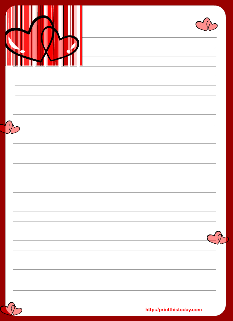 Free Love Letter Pad Printable - Free Printable Love Letter Paper