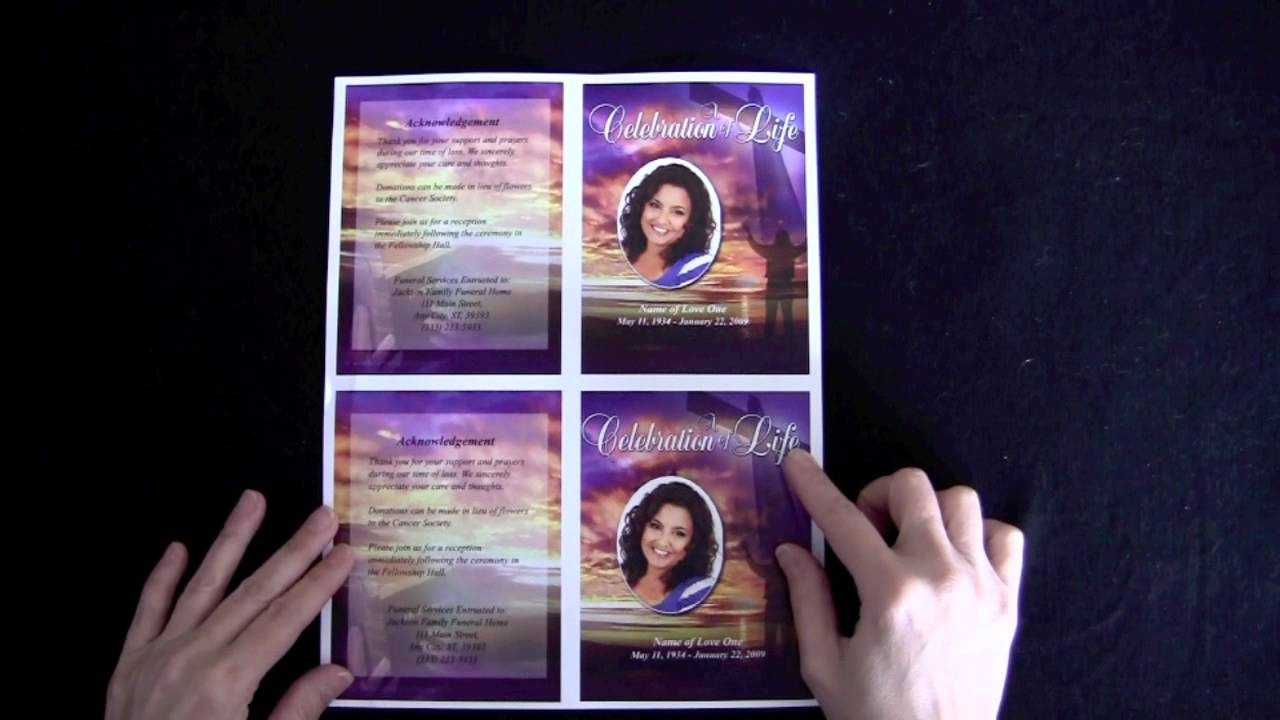 Free Memorial Cards Template - Tutlin.psstech.co - Free Printable Funeral Prayer Card Template