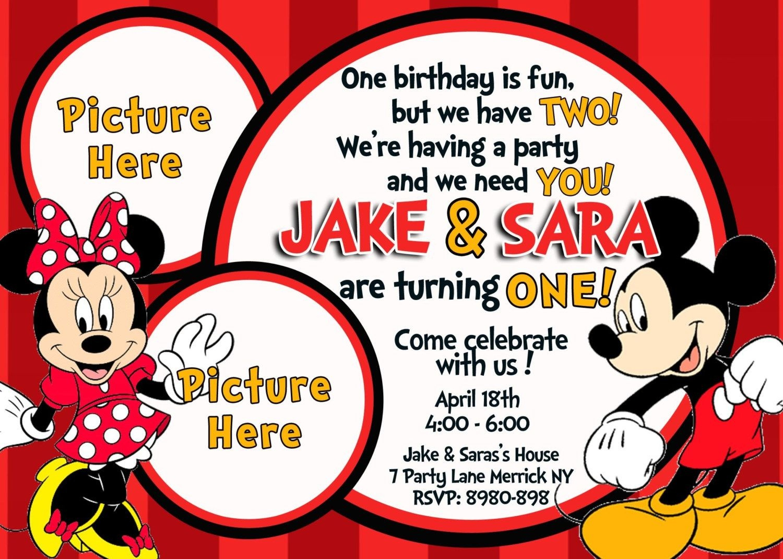 Free Mickey And Minnie Mouse Birthday Invitations | Bagvania - Free Printable Mickey Mouse Birthday Invitations