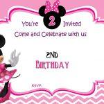 Free Minnie Mouse 2Nd Birthday Invitation   Free Printable   Free Printable Minnie Mouse Party Invitations