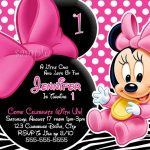 Free Minnie Mouse Invitation Template. Minnie Mouse First Birthday   Free Printable Minnie Mouse Party Invitations