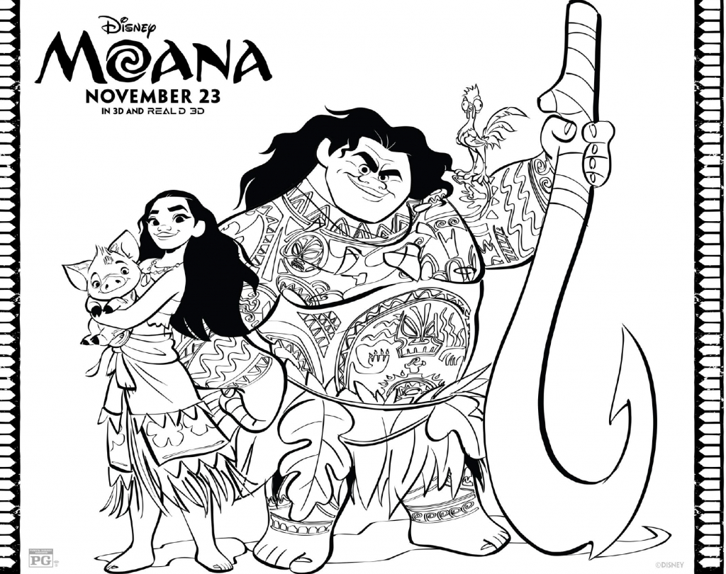 Free Moana Coloring Pages | Kid Crafts And Activities. | Moana - Moana Coloring Pages Free Printable