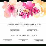 Free Modern Printable Watercolor Wedding Rsvp | Freebies & Free   Free Printable Rsvp Cards