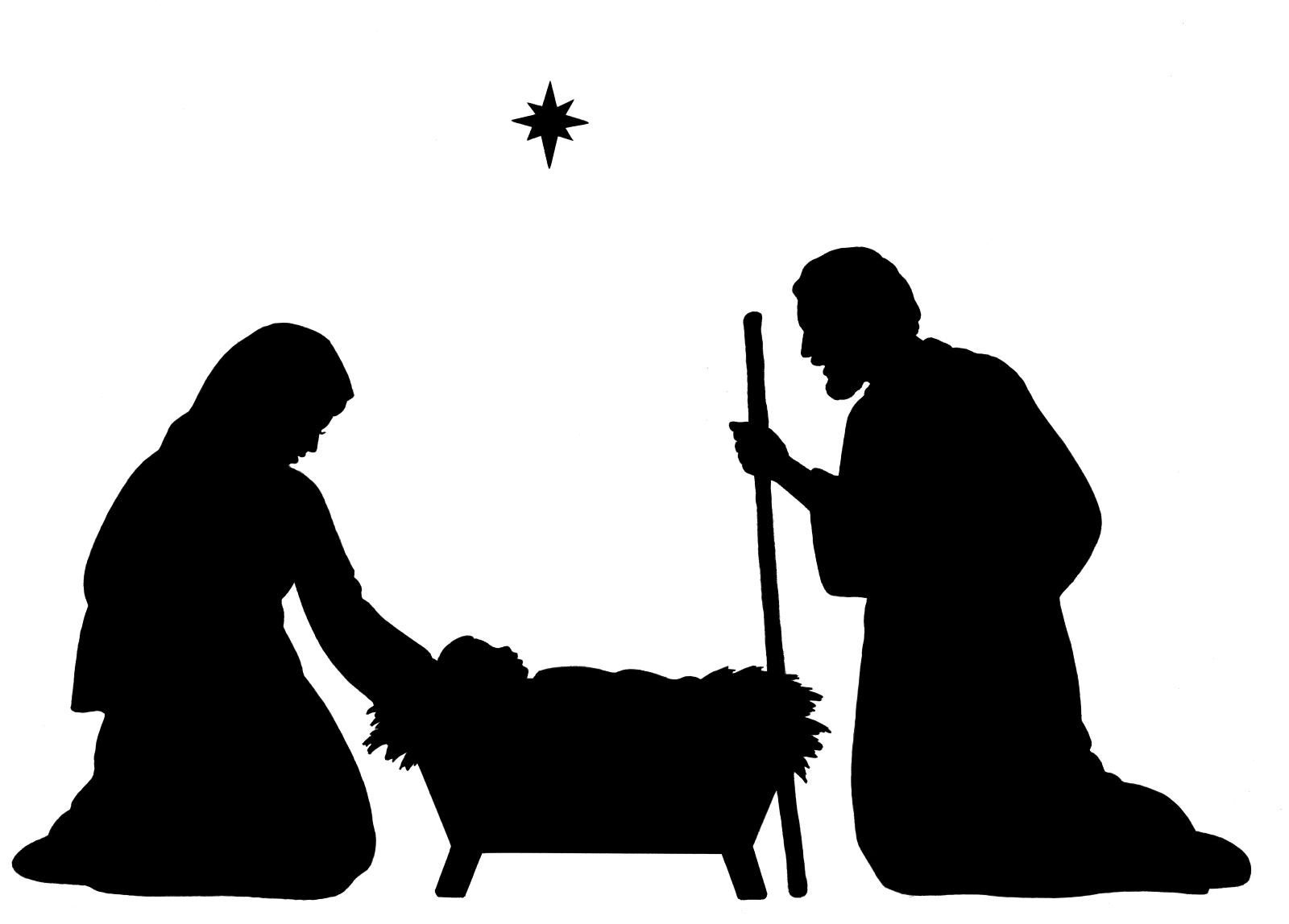 Free Nativity Clipart Silhouette   Free Download Best Free Nativity - Free Printable Nativity Silhouette