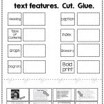 Free Nonfiction Text Features Matching Activity | Tpt Free Lessons   Free Library Skills Printable Worksheets