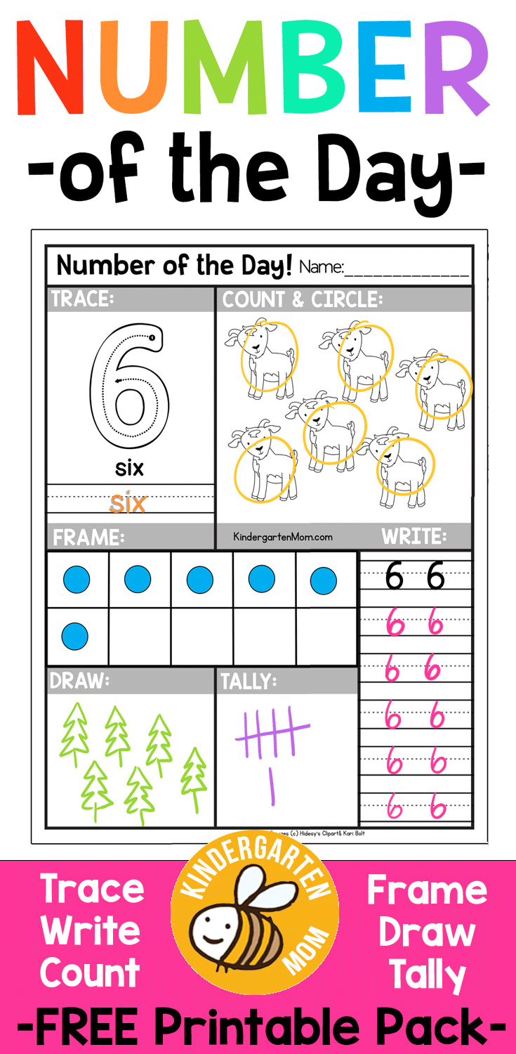 Free Number Of The Day Worksheets!! Free Printable Number Of The Day - Free Printable Number Of The Day Worksheets