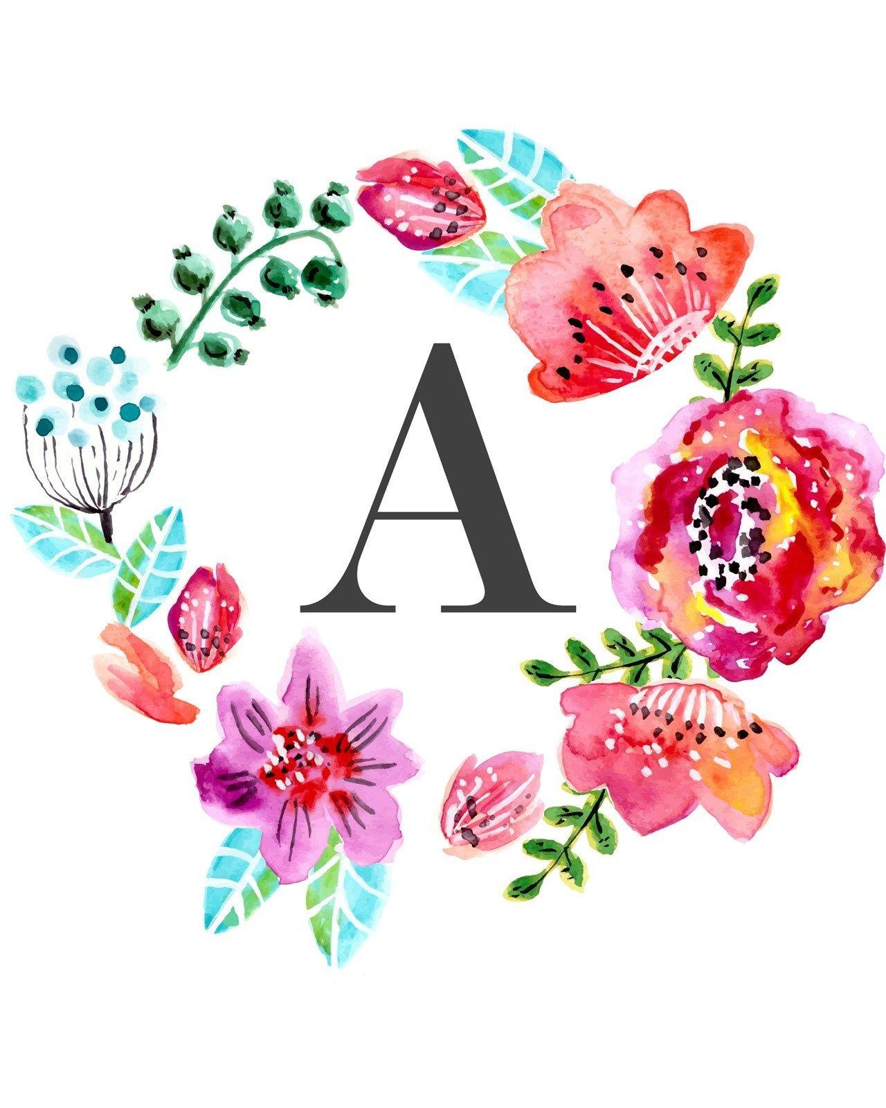Free Nursery Wall Art Printables | Ella Claire | Arte Casa - Free Printable Flower Letters