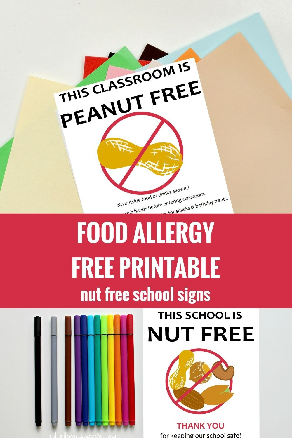 photograph regarding No Food or Drink Signs Printable called Nut Allergy Indicator.pdf - Google Commitment Kindergartenklub